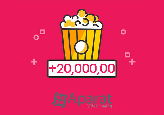 More than 20,000,000 video views on Aparat daily
