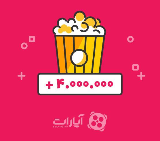 عبور از مرز ۴٬۰۰۰٬۰۰۰ نمایش روزانه ویدیو در آپارات